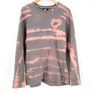 Nike Tech Fleece Custom Tie Dye Crew Sweatshirt M